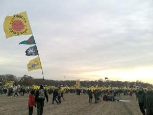 Am Rande der großen Demo-Wiese